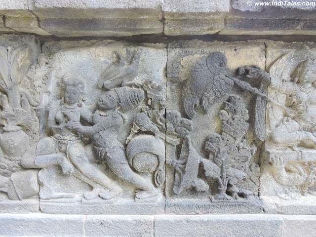 Jatayu Scene - Ramayana Panels - Prambanan Shiva Temple