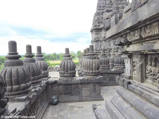 Bell like Balustrade tops of Prambanan Temples
