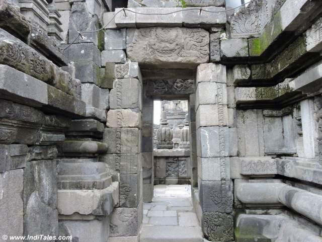 Inside doors of Prambanan temples