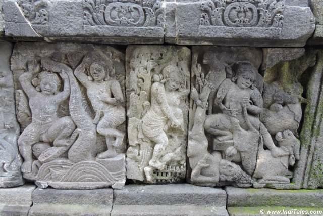 Carved panel of Vishnu Temple at Prambanan
