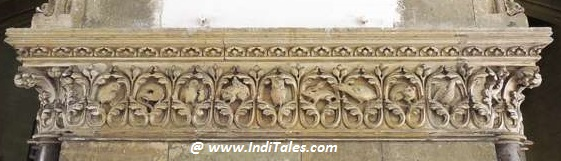 Animals Carved on the pillars of CST Mumbai