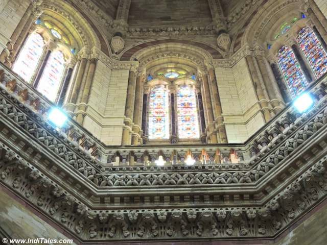 Inside view of the CST Mumbai dome