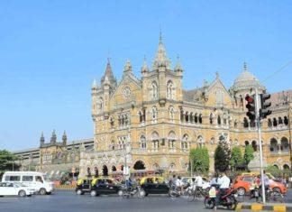 CST Mumbai from across the Road