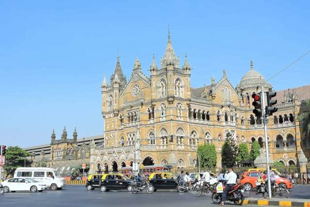 CST Mumbai from across the Road