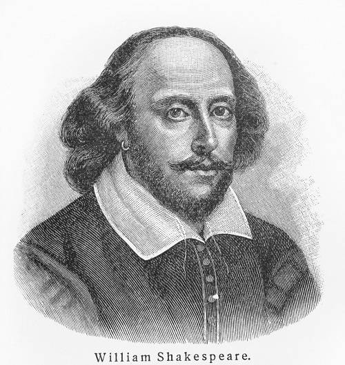 Imagined portrait of William Shakespeare