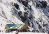 Snow clad mountains en route Nathu La Pass