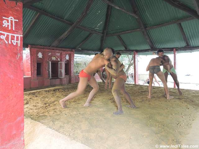 Kushti or Wrestling practice at Akhada