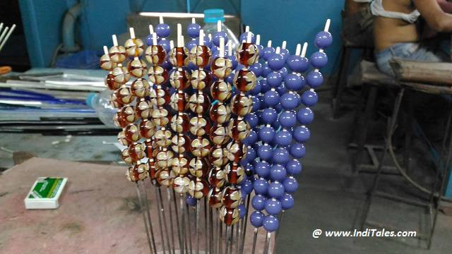 Hand Made Glass beads of Varanasi