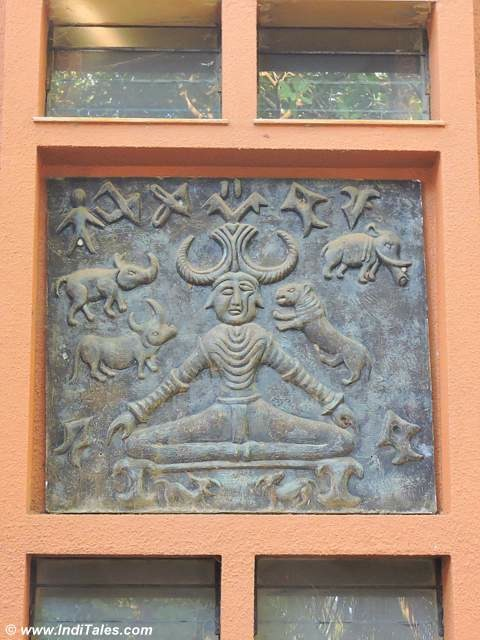 Indus Valley Seal on the walls of Pallotti House in Assagao