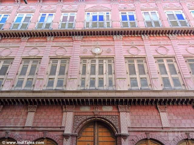 3 levels and 3 styles of a multi-storied Haveli