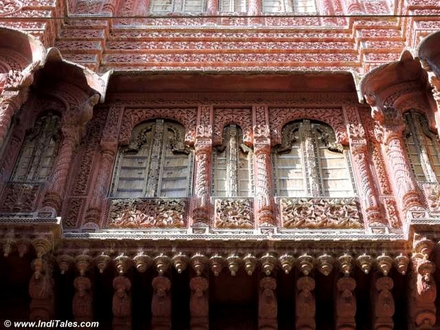 Intricate Chhaja at a Bikaner Haveli
