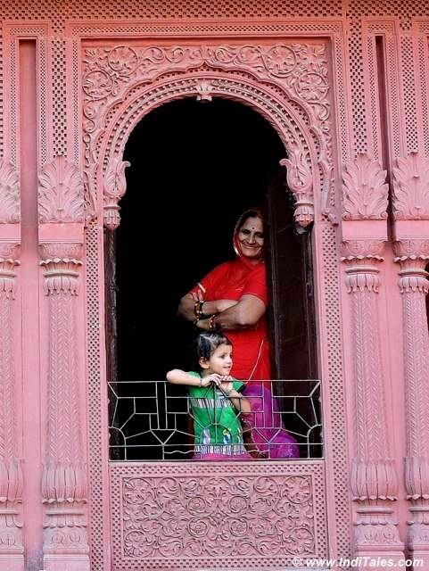 Jharokhas on the window balcony