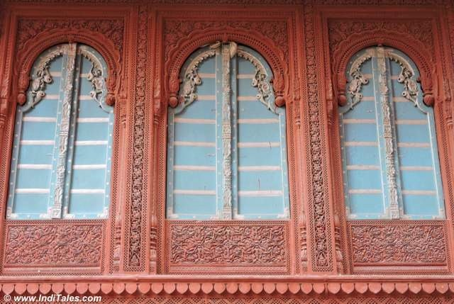 Play of colors and Carvings on the windows