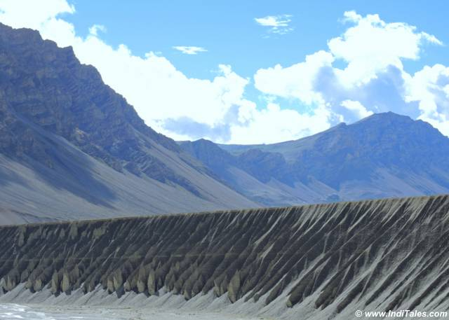 Eroded hills in the cold desert of Spiti Valley