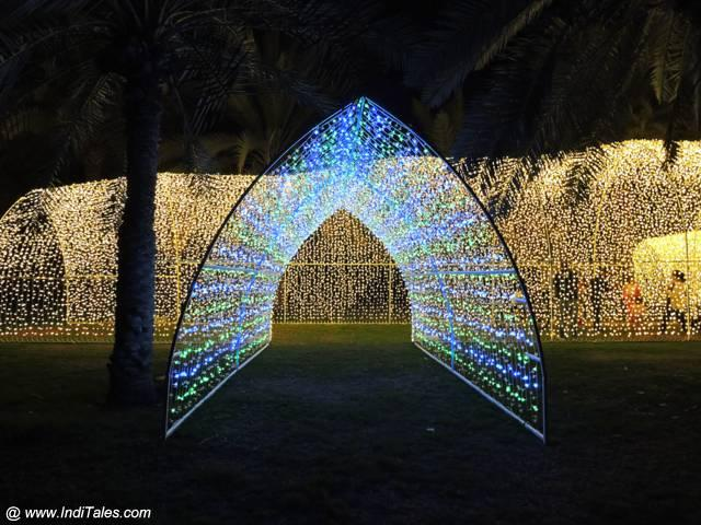 Light Tunnel at lawns next to Khalid Lagoon