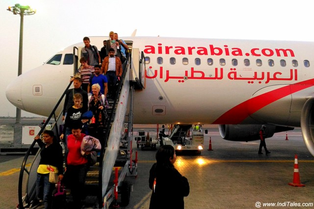 Landing in Sharjah with Air Arabia