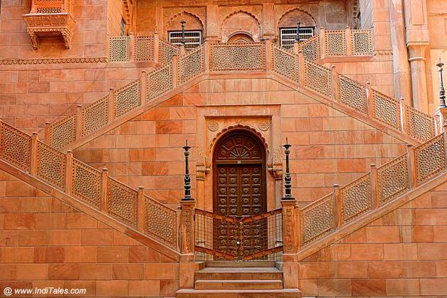 Intricately carved heritage staircases at Junagadh Fort Bikaner