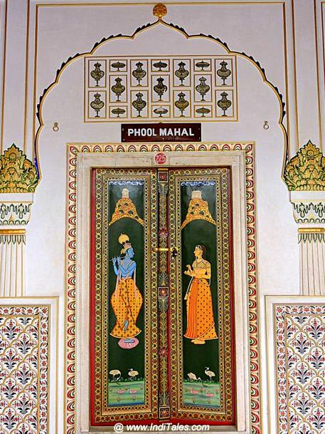 Painted doors of Phool Mahal, Junagadh Fort, Bikaner