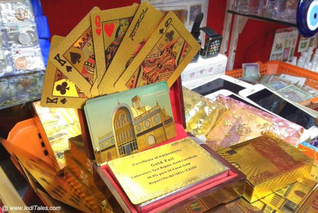 Certified Gold Plated Playing Cards at Sharjah Markets