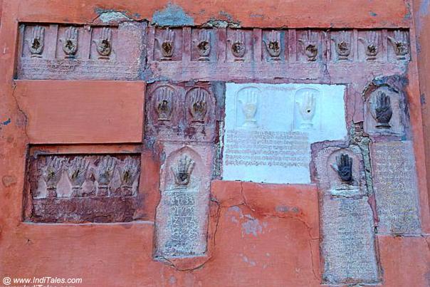 Sati Hand Prints at the Entrance of Junagadh Fort in Bikaner
