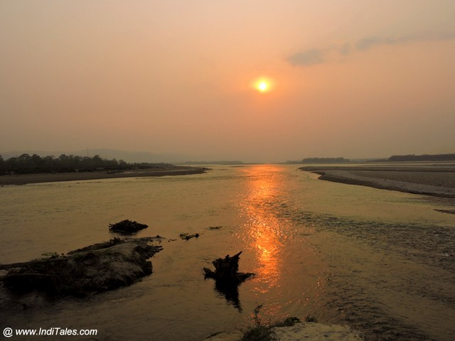 Sunset at Narayani River - Nepal