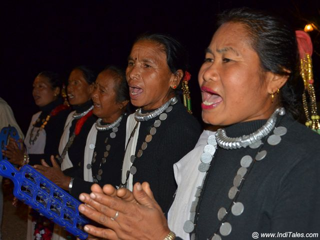 Tharu ladies singing folk songs
