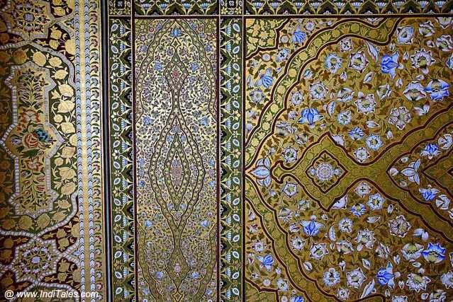 Ornate Ceilings in rich Gold - Junagadh Fort - Bikaner