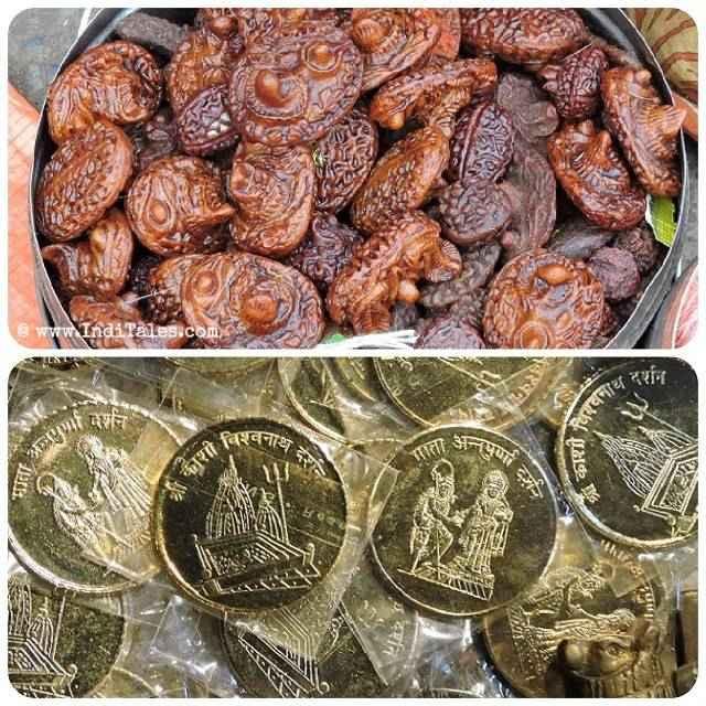 Odd shaped Rudraksha & Varanasi Coins