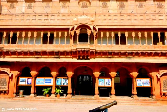 Sandstone Architecture of Vikram Vilas Palace at Junagadh - Bikaner