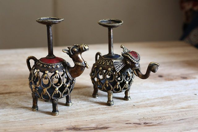Dokra Art Candle Stands