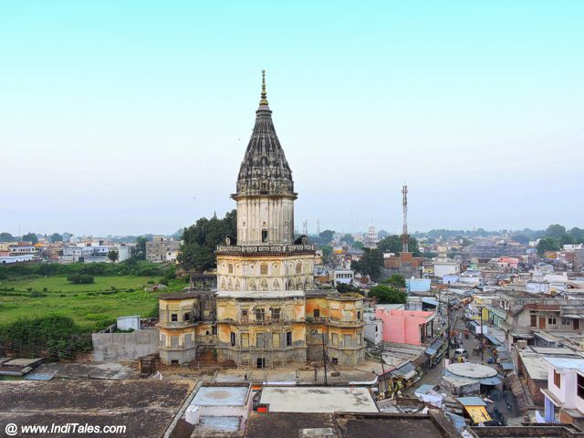 View of Ayodhya from Hanuman Garhi Temple