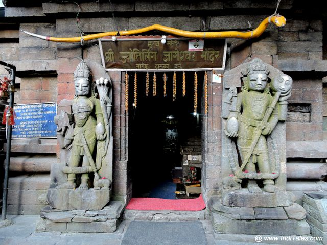 Dwarapalas at the entrance of Jageshwar Jyotirlinga