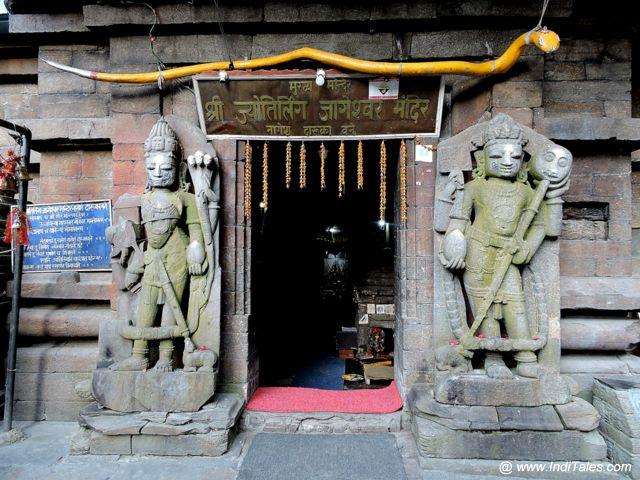 Dwarapalas at the entrance of Jageshwar Jyotirlinga
