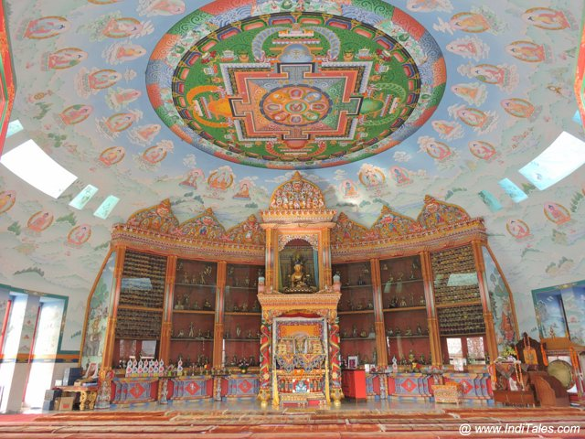 Murals inside German Monastery - Lumbini