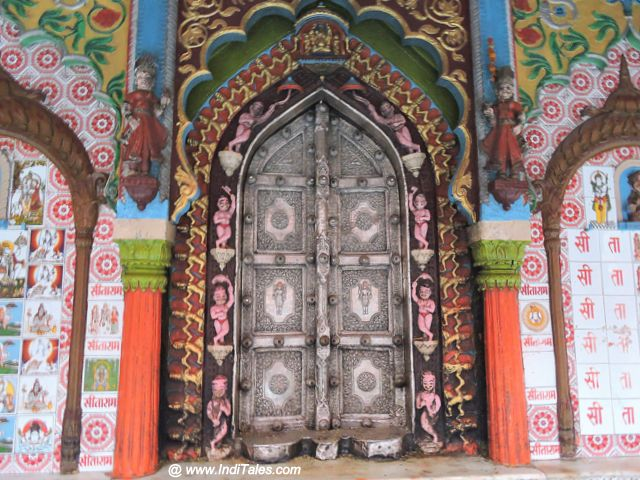 Temple door of Hanuman Garhi Temple, Ayodhya