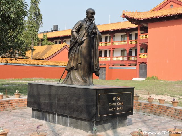 Chinese Traveller Huan Tsang at Chinese Monastery - Lumbini
