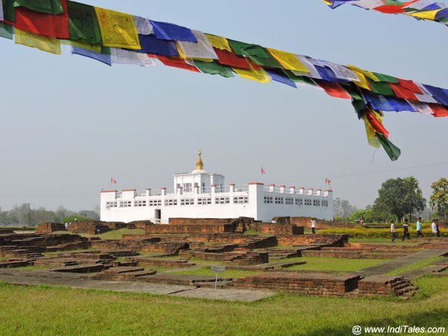 Maya Devi Temple & Stupas around it at Lumbini Garden