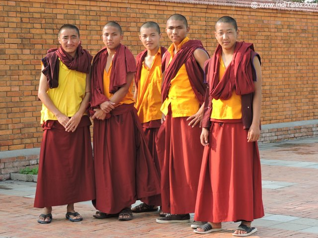 Young monks at Lumbini