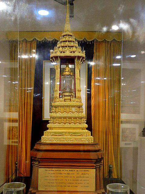 Relics of Buddha at National Museum Delhi