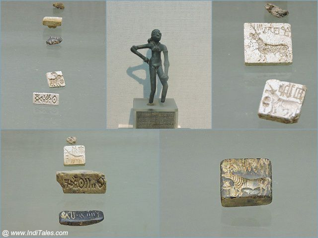 Dancing Girl & Indus Valley Civilization seals - Harappa, National Museum, New Delhi