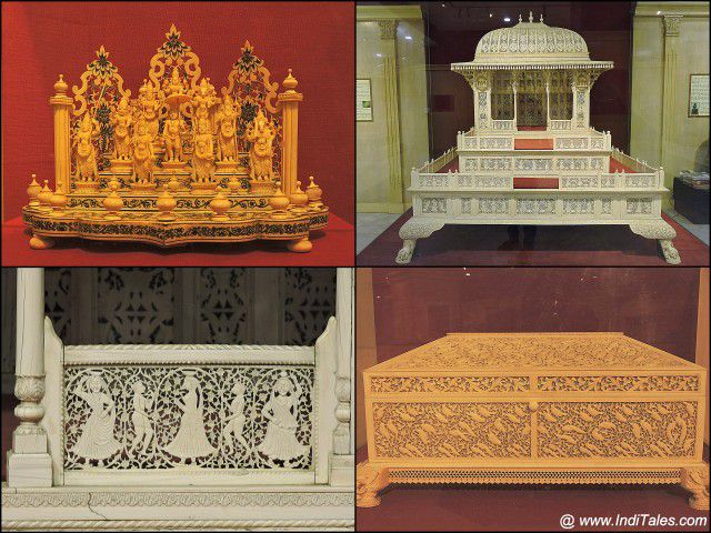 Ivory Sculptures - National Museum, New Delhi
