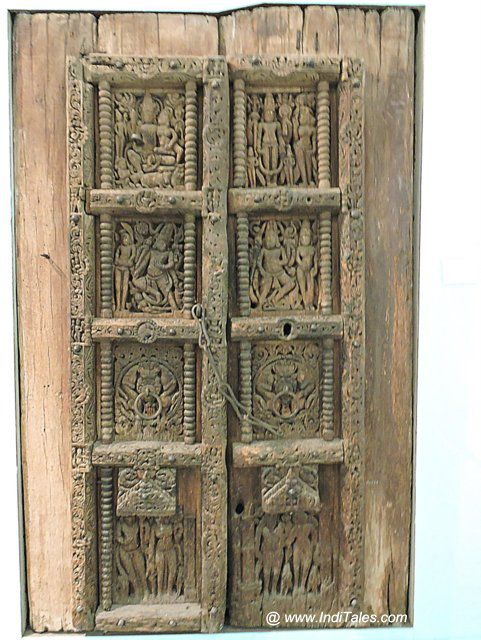 Wood Carved Door from Uttar Pradesh - National Museum, Delhi