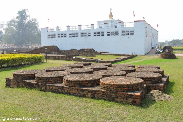 Votive Stupas surrounding the Maya Devi Temple at Lumbini Garden