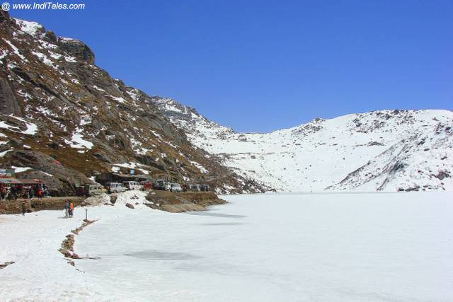 Frozen Tsomgo Lake or Changu Lake, Sikkim