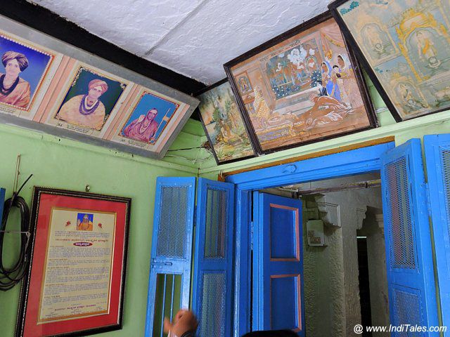 Colorful interiors of Jangamwadi Mutt - Varanasi