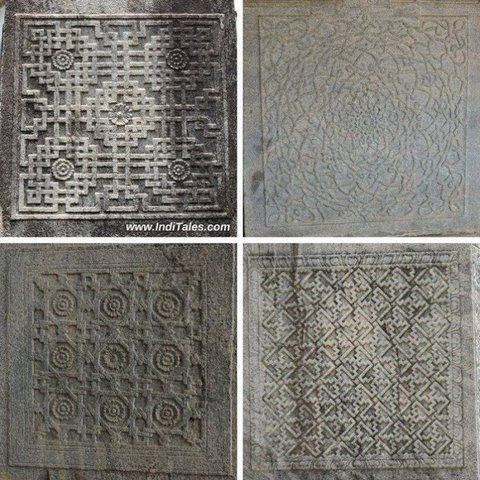 Geometric patterns on Pillar bases - Moodbidri