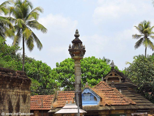 Rooftops of Jain Basadis on Jain Temple Road - Moodbidri