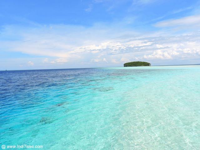 Hues of Blue color at Pasir Timbul - Raja Ampat