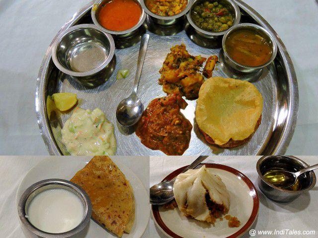 Thali, Pooran Poli & Modak at Shreyas, Pune