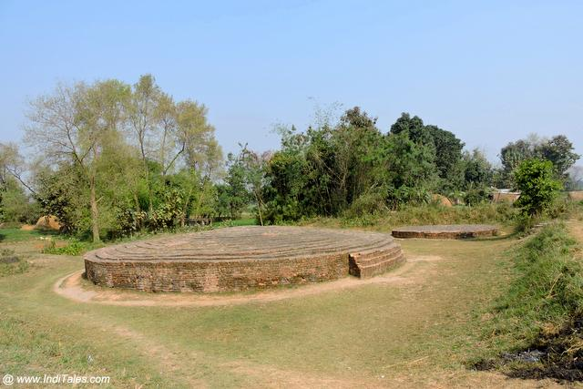 Stupas of Buddha's parents - King Suddhodhan and Queen Maya Devi at Tilaurakot